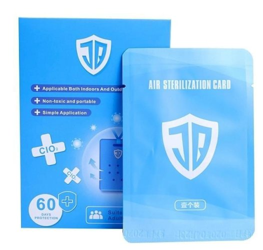 NBH Portable Air Sterilization Card with Lanyard for Kids and Adults